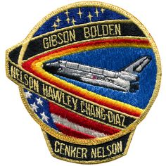 """Mission successfully launched after many countdown """"holds"""" and postponements from the originally scheduled launch date of December Successfully deployed the RCA Satcom satellite. The decision Space Patch, Edwards Air Force Base, Nasa Patch, Air Force Patches, Nasa Missions, Kennedy Space Center, Elapsed Time, Police Patches, Space And Astronomy"""