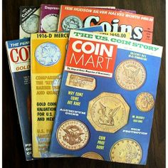 Vintage Coin Collector Magazines 6 Assorted 1970s | AestheticsAndOldLace - Books on ArtFire
