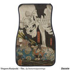 Utagawa Kuniyoshi  - The Skeleton Spectermid Car Floor Mat