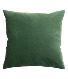 Velvet Cushion Cover, Square in Dark Green I | H&M US