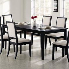 Black Wood Dining Room Furniture - Best Paint for Furniture Check more at http://searchfororangecountyhomes.com/black-wood-dining-room-furniture/