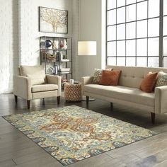 You'll love the Bellamy Blue/Orange Area Rug at Wayfair - Great Deals on all Rugs products with Free Shipping on most stuff, even the big stuff.