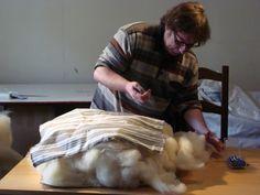 Design and wool day 4 wool mattress making