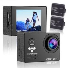 """""""Features & Benefits"""" Action Camera Waterproof, Full HD Sports Camera Underwater Camera, updated battery 170 degree angle bundle with Accessories (Funshare, Black) Digital Camera Tips, Digital Cameras, Underwater Camera Housing, Camera Frame, Sports Camera, Snorkelling, Camera Photography, Hd 1080p, Taking Pictures"""