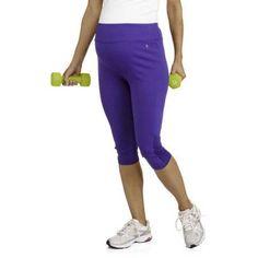 Danskin Now Maternity Performance Workout Capris, Size: XL, Blue