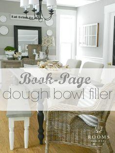 Book-Page Dough Bowl Filler