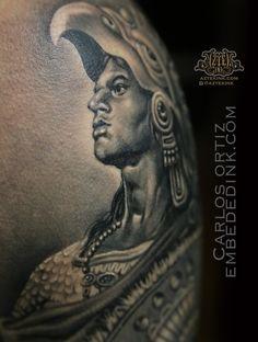 0583e1ecc Aztec warrior tattoo by carlos ortiz at AZTEK ink tattoo Aztekink.com  Chicagoland area