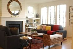 Modern Farmhouse Living Room 2 - eclectic - living room - boise - Judith Balis