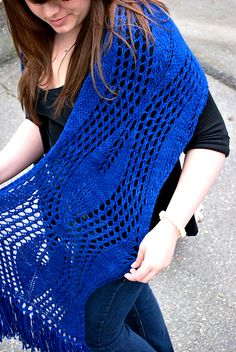 High Line by Kirsten Kapur, knitted by sweetfiber | malabrigo Worsted in Buscando Azul
