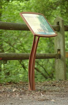 beautiful natural leg form - educational signage