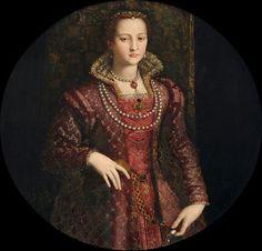 Portrait de Eleonore de Tolède, 1572 Allesandro Allori