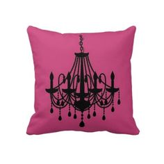 Funky fuchia pink chandelier pillow    http://www.zazzle.com/funky_fuchia_pink_chandelier_fashion_pillow_american_mojo_pillow-189325621064616432