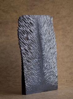 Vederlicht 2010, Belgisch hardsteen (40x24x3) Verkocht.