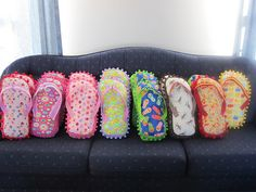 I love these flip-flop pillows. Just received a pattern to make some!