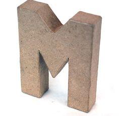 Papier Mache Alphabet Buchstaben M, 10cm, frei stehend, Pappe Briefe für 1,17…