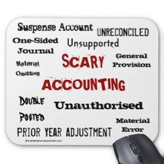 Scary Accounting - Humorous Horror Show Mouse Mat