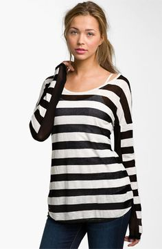 I want one in every color please!  Painted Threads Burnout Stripe Tee (Juniors) available at #Nordstrom