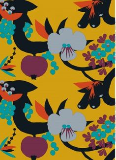 Marimekko http://www.marimekko.com/products/interior-decoration/fabrics/cotton-fabrics/elamanpuu-fabric-880