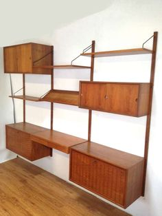 3 Section Danish Modern Cado Wall Unit by Poul Cadovious 1960s