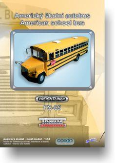 Papírový model - Školní autobus Freightliner FS-65