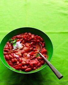 Sam's Vegetarian Bean Chili - Martha Stewart Recipes