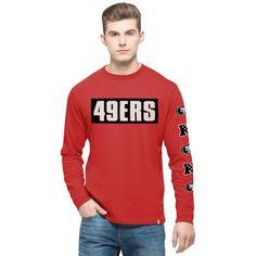 San Francisco 49ers '47 Crosstown Team Flanker Long Sleeve T-Shirt - Scarlet