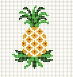 http://stitchbystitch89.blogspot.com/ Basic Pineapple Cross Stitch Pattern
