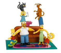 """Amazon.com: McFarlane Toys - The Simpsons Box Set """"Family Couch Gag"""": Toys & Games"""