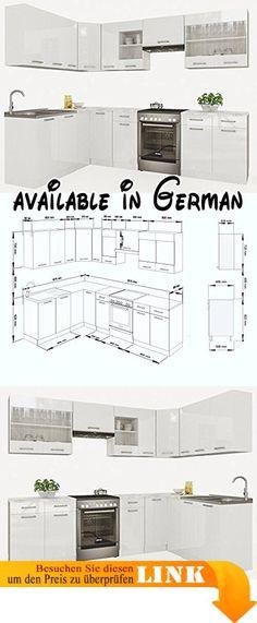 B017JLVF0G  Spülenunterschrank Salerno 100 cm Melamin weiss Sonoma - küchenblock 260 cm