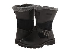 Timberland Kids Earthkeepers® Asphalt Trail Skyhaven Tall Boot w/ Faux Sherling (Toddler/Little Kid) Black/Grey - Zappos.com Free Shipping BOTH Ways
