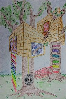Two point perspective tree houses