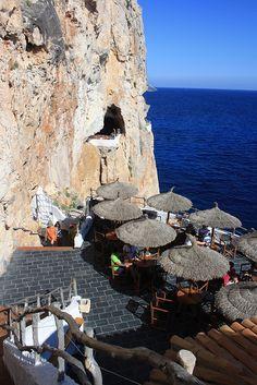 Cova d'en Xoroi. South-east of Menorca.