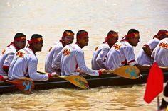 Langbootrennen in der nordthailändischen Provinzhauptstadt Phitsanulok.
