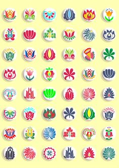 These lovely traditional Hungarian folk art patterns are hand drawn. You will receive:  - 1 A4 size (US letter size) jpg file with white