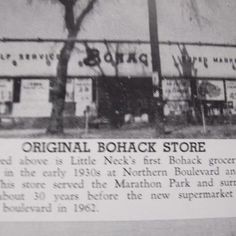 when i was a kid there was a bohack supermarket around the corner from our house. Before that  it was a packers, then bohack, then pioneer,  then c town , then a flea market, then a diner followed by a rite aid which is what it still is today.--from long island places that are no more