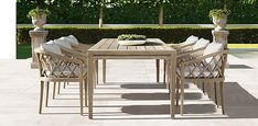 Greystone Teak Dining Collection - Weathered Teak | RH