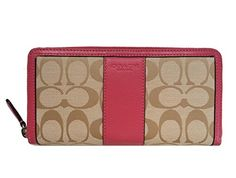 #Coach Park Signature Accordion Zip Around Wallet in Light Khaki & Strawberry - Style 51770 Coach http://www.amazon.com/dp/B00KVT33MM/ref=cm_sw_r_pi_dp_zMS7tb150106Z