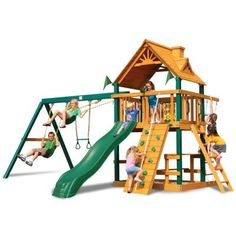 Gorilla Playsets Blue Rige Chateau Play Set