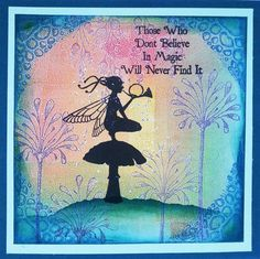 Featuring Lavinia Stamps' Night Watch SKU 485773 and Floral Spray SKU 513093, available at www.addictedtorubberstamps.com  Card creator unknown.