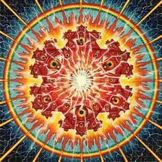 Licensed blotter art by Visionary Artist Alex Grey, well known for his work with Tool. A portion of the proceeds from every sale with be donated to Alex Grey's Chapel of Sacred Mirrors project.