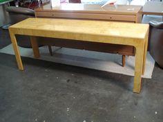 Burl Elm Console Table