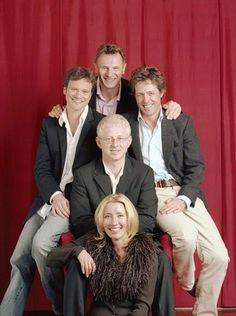 "Director / Writer Richard Curtis with cast of ""Love Actually"" (2003)"
