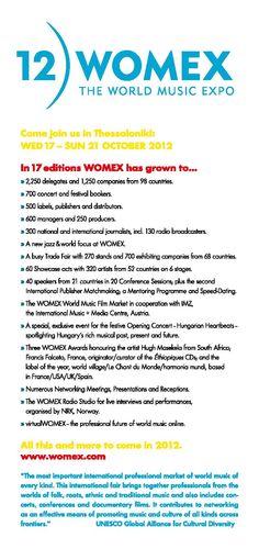 2012.10.19 12η WOMEX World music EXPO, Θεσσαλονίκη || 12 WOMEX World music EXPO, Thessaloniki Thessaloniki, World Music, Istanbul, Concert, Recital, Concerts