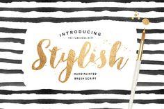 Stylish Brush with Bonus by Nicky Laatz on Creative Market
