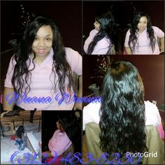 Wuanie's Creation...  Full Sew In/No leave out Crochet  Side Part /Long hair 3 bundles  Chicago Stylist