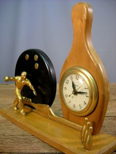 Vintage 1950's United Bowling Clock by Rustology on Etsy, 44.00