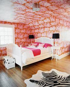 Home Decoration Living Room Bedroom Orange, Bedroom Red, Bedroom Photos, Girls Bedroom, Bedroom Decor, Bedroom Ideas, Master Bedroom, Orange Rooms, Bedroom Makeovers