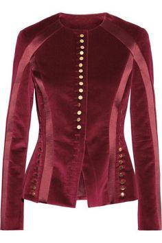 Altuzarra | Cavendish silk satin-trimmed velvet jacket | NET-A-PORTER.COM