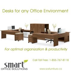 Are you looking for a specific Desk combination that will increase productivity in your Office Environment? We can help! Contact us Toll Free 1-855-767-8118 www.sosfurniture.ca New Furniture, Office Furniture, Smart Office, Increase Productivity, Office Environment, Custom Design, Desk, Free, Home Decor