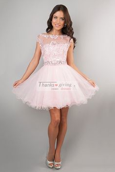A Line Short/Mini Off The Shoulder 2014 Homecoming Dresses Scoop Neckline - Sweet 16 Dresses - shop dresses